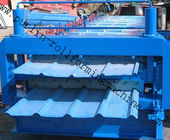 Best Steel Cold Double Layer Roll Forming Machine for Roof Tile , Metal Sheet , Wall Panel for sale